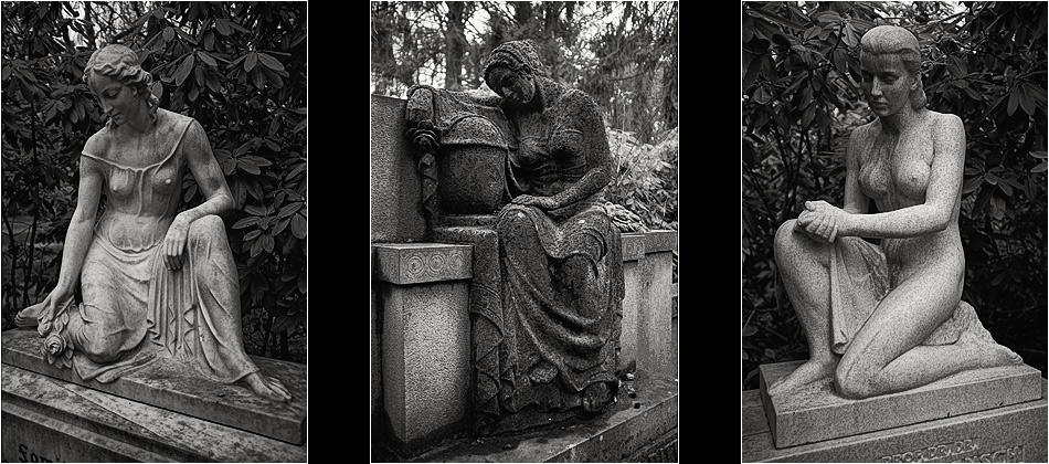 Weibliche Statuen